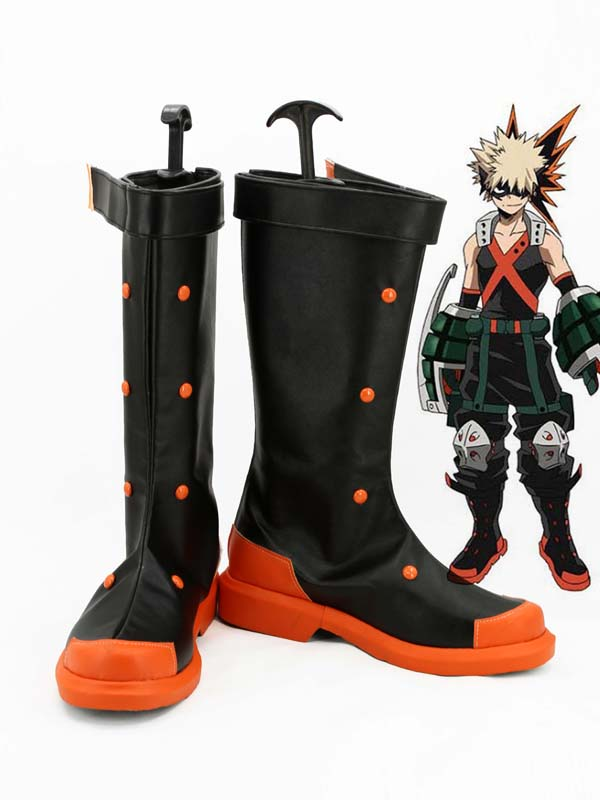 My Hero Academia Katsuki Bakugo Cosplay Boots Shoes Men Cosplay Costume Party Shoes Custom Made Boots