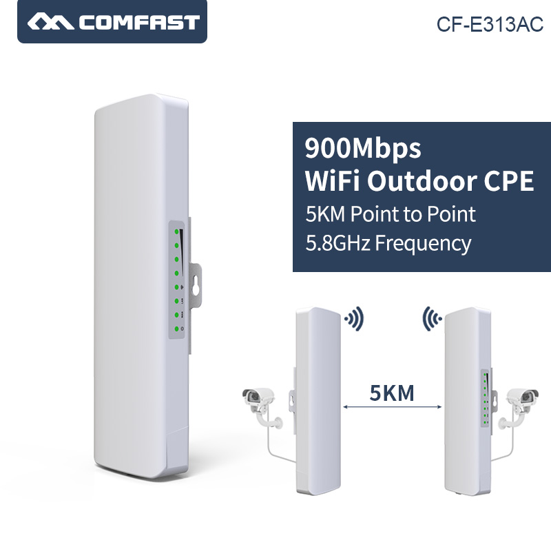 2pcs 3 5KM Long Range COMFAST High Power Wireless Bridge 5.8G 900Mbps Wireless Outdoor wifi CPE Nanostation Wi fi for IP Camera-in Wireless Routers from Computer & Office