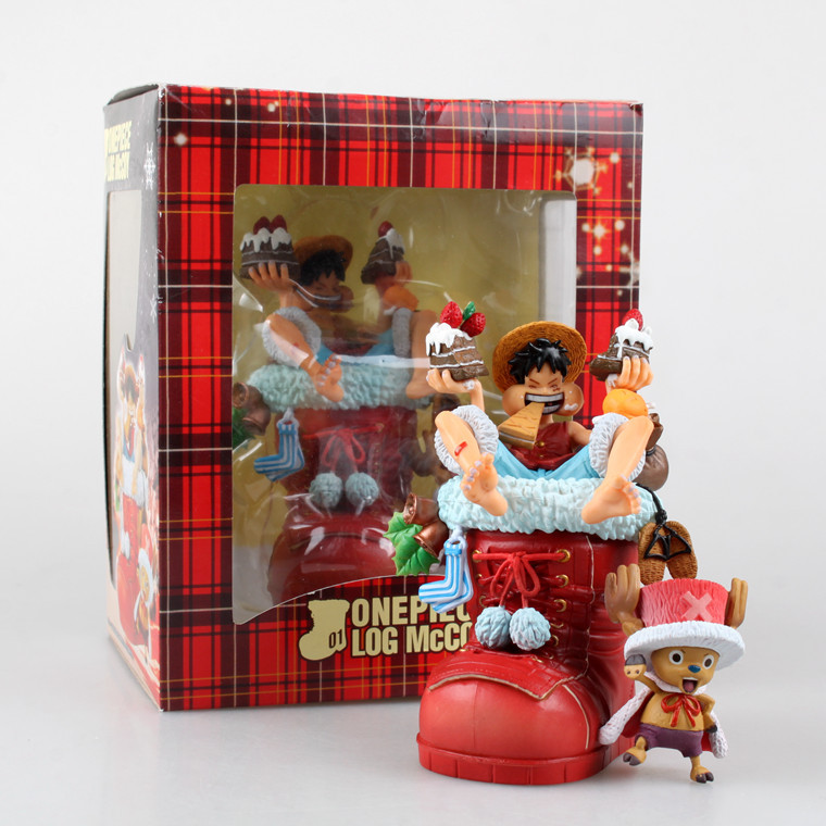1 Pcs Japanese Anime One Piece Monkey D Luffy Chopper Christmas Shoes 11 CM PVC Action Figure Collectible Model Toys Gift Kids