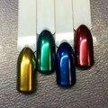 Pigmento Pigmento Glitter Powder Uñas Chroom Vtirka Polaco Polaco Del Espejo Cromo Brillo Del Polvo de Uñas Pulido Espejo Polvo SF0003