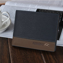 men wallets leather wallet hasp design men wallets with coin pocket purse 2018 new gift card holder for men carteira(China)