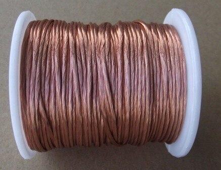 0 2x80 strands 20m pc Litz wire stranded enamelled copper wire braided multi strand wire