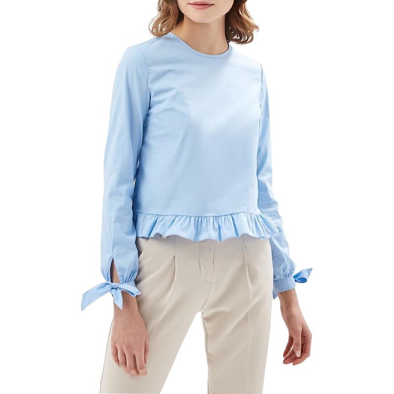 Blouses & Shirts MODIS M181W00378 woman blouse shirt blusas for female TmallFS женская футболка waqia 2015 t cueca blusas femininas 4