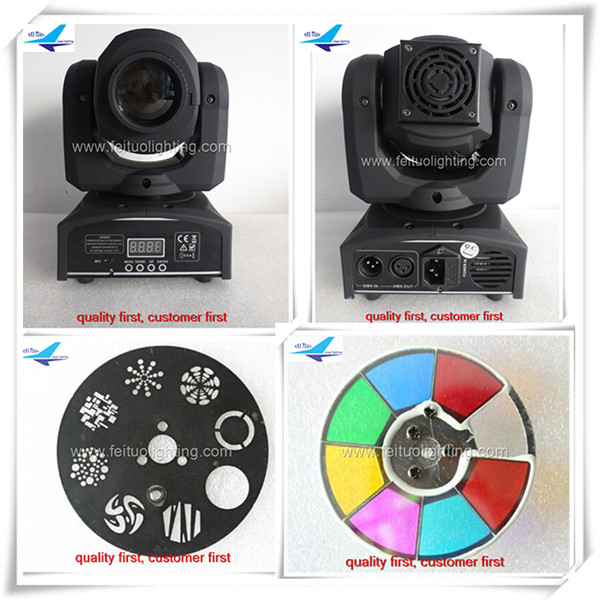 O- 24pcs/lot 30W DMX512 LED Stage 4 / 12 Channels Rainbow 7 Colors Changing Head Moving Light for Disco KTV Club Party