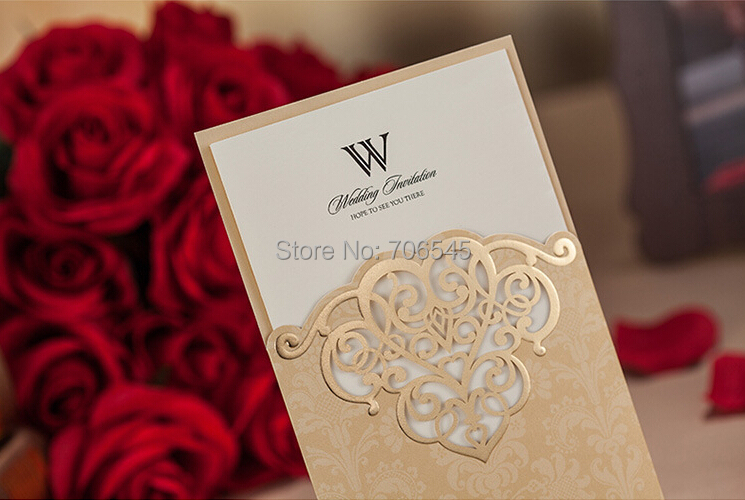 Wishmade Gold Cover Wedding Invitation Cards CW2002 Printable Customize Free Suppliers Invitations Printing In From