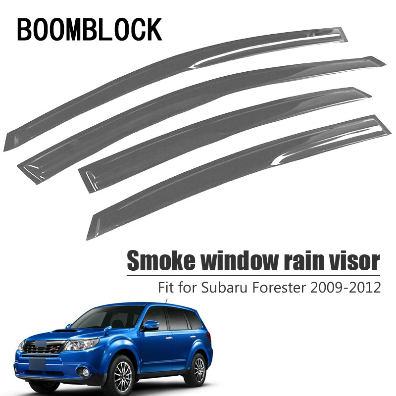High Quality 4pcs Smoke Window Rain Visor For Subaru Forester 2012 2011 2010 2009 Styling Vent
