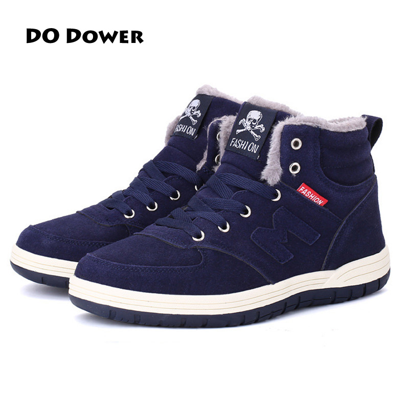 New Arrivals Winter Men's Boots Man Warm Running Shoes High top Sneakers Outdoor Male Athletic Shoes Running Shoes For Men yin qi shi man winter outdoor shoes hiking camping trip high top hiking boots cow leather durable female plush warm outdoor boot