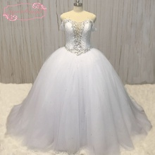 SuperKimJo Vestido De Noiva Off the Shoulder Crystal Wedding Dresses Luxury China Princess Bridal Ball Gown Casamento