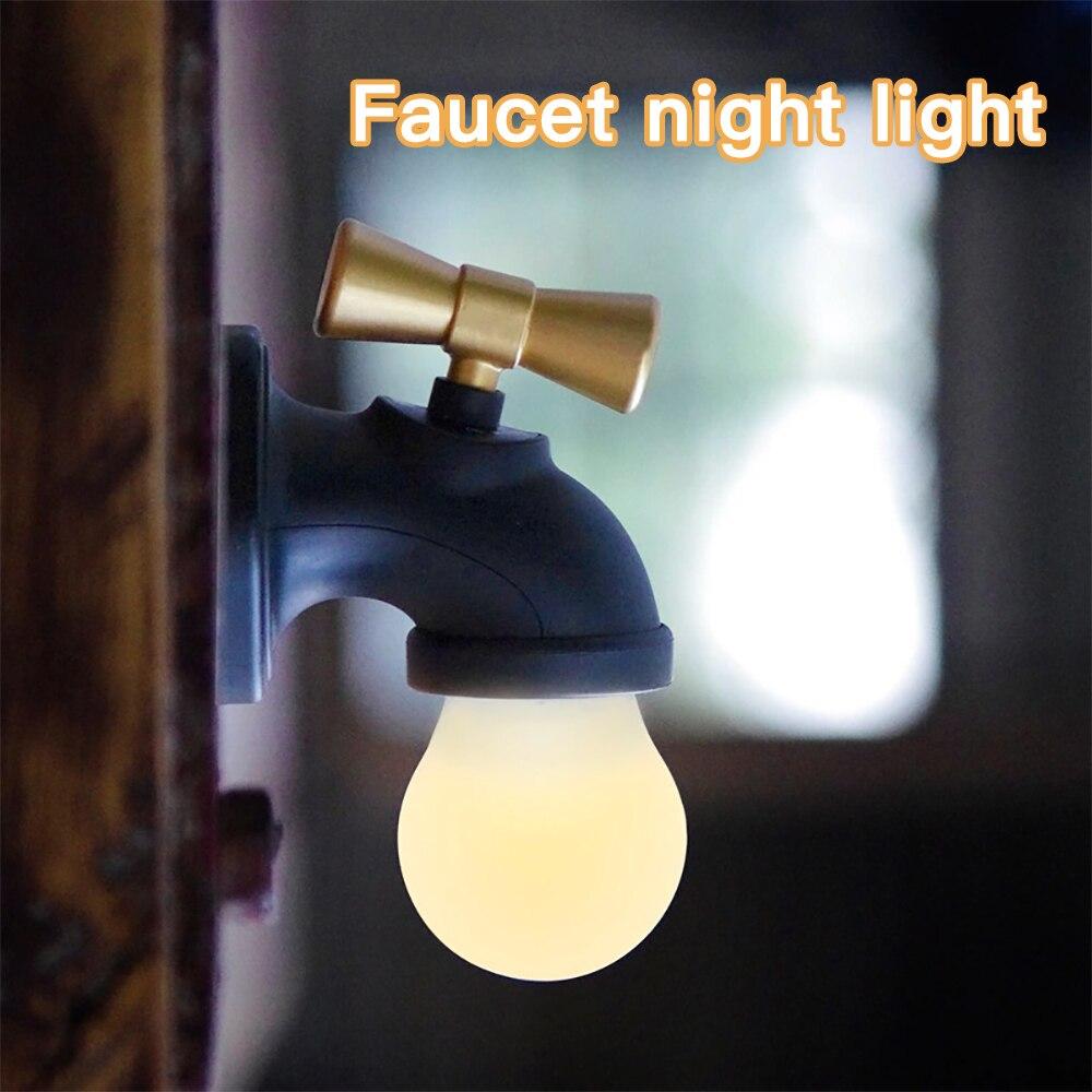 JXSFLYE roman et produits exotiques: robinet lampe de nuit LED lampe de lit à induction USB charge son-contrôle LED lampe de nuit