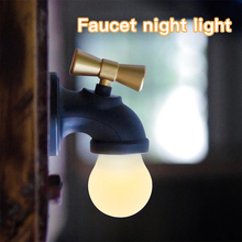 JXSFLYE Novel and exotic products: faucet night lamp LED induction bed USB charging sound-controlled