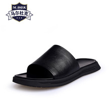купить Summer sandals fashion beach real leather slippers mens outdoor soft bottom Flip Flops casual Shoes beach outdoor anti-skid male дешево