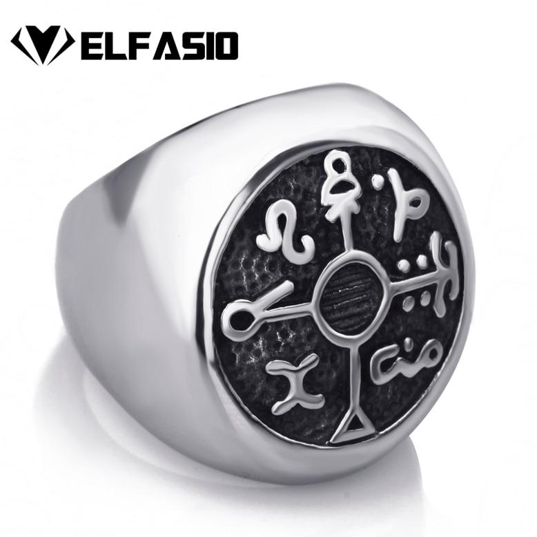 где купить Protection Seal of Solomon Kabbalah Magic Mens Boys 316L Stainless Steel Ring Fashion jewelry по лучшей цене