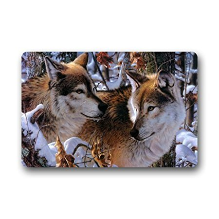 Charmhome Fashion Living Room Doormat Wolf Couple Love Camo Tree Doormat Custom Door Mat Home Decor