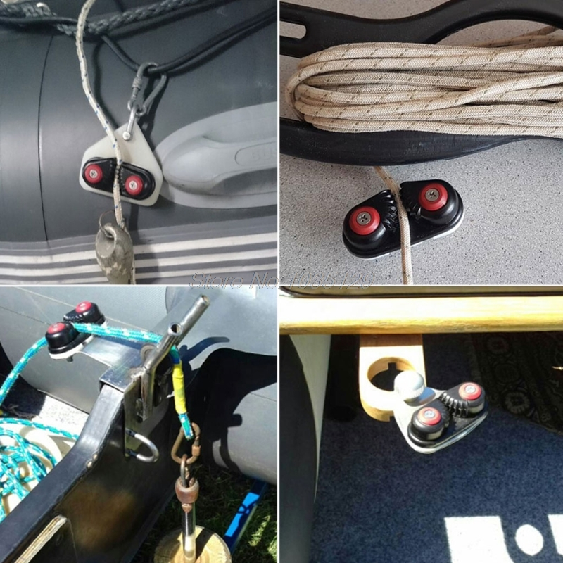 цена на Black Aluminium Nylon Clip Cord Lock Cam Cleat Sailboat Kayak Dinghy Accessory Oct10