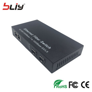 Image 4 - optical fiber 4 port SFP media converter 2G2E 20km sfp fiber to 2 rj45 UTP commercial ethernet fiber optic sfp switch FTTH