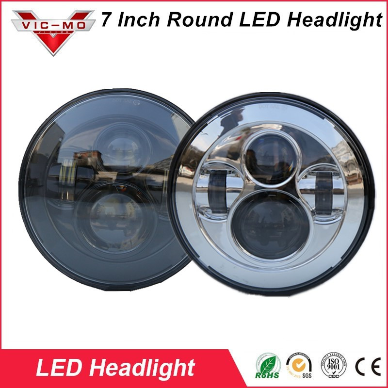 high power 7Inch Round Led Headlight For Jeep Wrangler JK TJ LJ CJ Willys Wheeler Unlimited Rubicon Hummer Land Rover Defender high power 7inch round led headlight for jeep wrangler jk tj lj cj willys wheeler unlimited rubicon hummer land rover defender