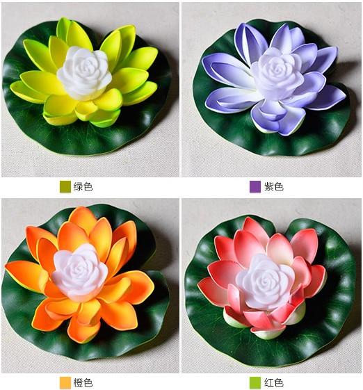 17 Cm Romantis 7 Warna Mengubah Lotus Flower Pola Partai Led Cahaya
