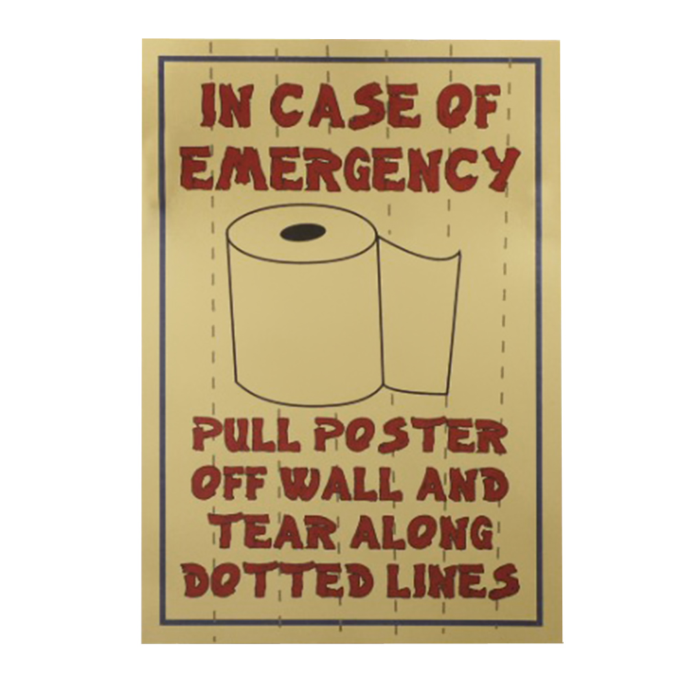 Funny Toilet Paper Theme Kraft Poster Removable Murals Wall Decor ...