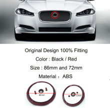 1Pcs Car Front Grill Hood Emblem Auto Head Bonnet Label Badge For Jaguar XF XJ XJL XJR XE F-TYPE