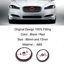цена на 1Pcs Car Front Grill Hood Emblem Auto Head Grill Bonnet Label Badge For Jaguar Front Grill Emblem XF XJ XJL XJR XE F-TYPE