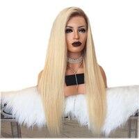 DLME Syntetyczna Koronka Przodu Peruka Z Naturalnych Włosów Ombre Popiołu blond Peruka Z Ciemne Korzenie Żaroodporne Włosów Peruki Dla kobiety