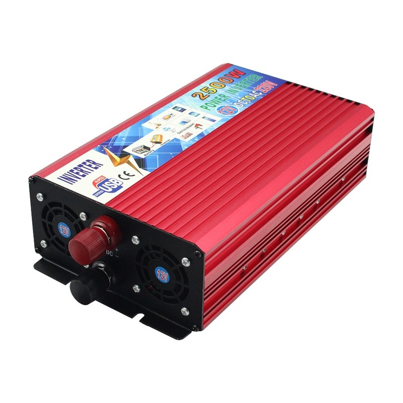 Car Power Inverter Transformer DC 12V to AC 220V 2500W Portable Power Inverter Vehicle Power Supply Charger Converter Adapter 1500w car power inverter tyn 1500nb inverter auto inverter car power inverter vehicle power supply charger converter adapter