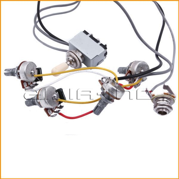 Aliexpress.com : Buy LP Guitar Wiring Harness Assembly with A500k ...