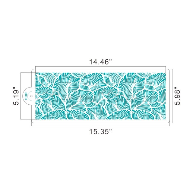 Peacock Lace Stencil for Wedding Cake Design Plastic Template Mold Painting Stencil  Decorating Bottle Fondant Tools Bakeware