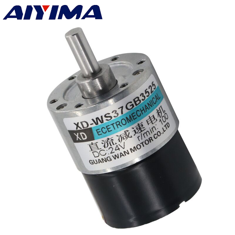 Aiyima Brushless Motor 12V 24V DC Motor Mini Gear Motor Positive and Negative Slow Speed Long Life 3000Hour Super Sound off