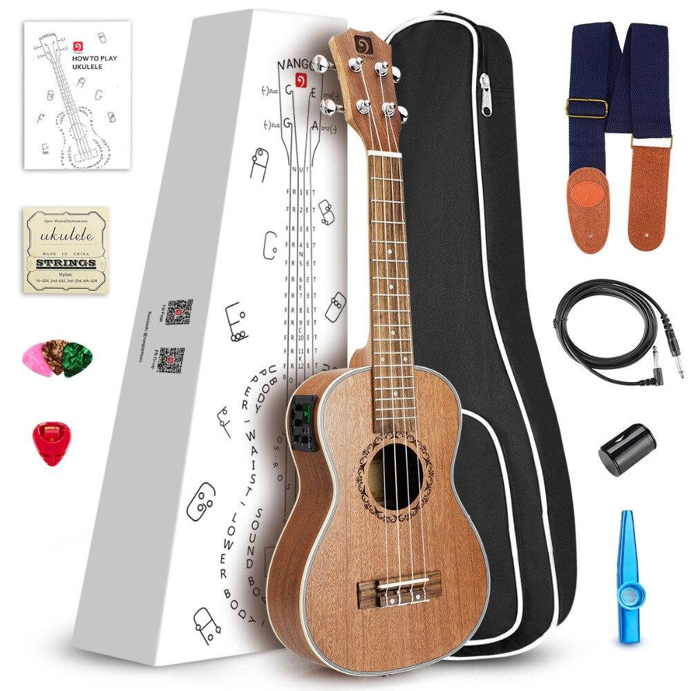 Здесь продается  Vangoa 26 inch Tenor Mahogany Acoustic Electric Ukulele Hawaiian Guitar, 3 Band EQ with Ukulele Tuner  Спорт и развлечения