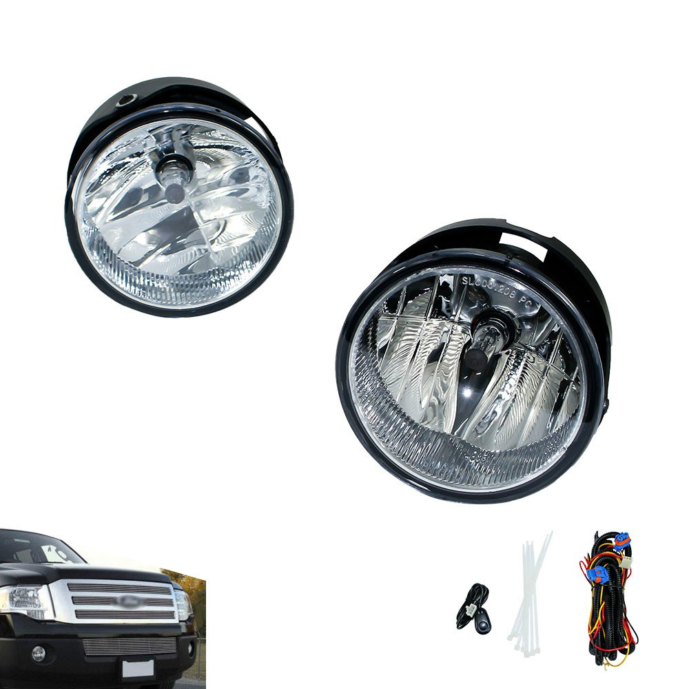 CNSPEED Fog light for 2008-2014 FORD EXPEDITION/2008-2011 RANGER fog lamps Clear Lens Bumper Fog Lights Driving Lamps TT100929