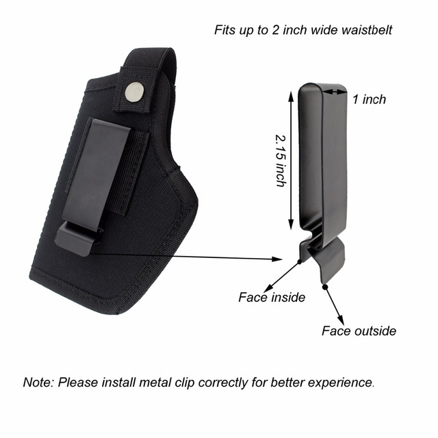 Gun Clip Holster Ultimate Concealed Carry IWB OWB Holster for Right Hand or Left Hand Draw fits Subcompact to Large Handguns  4