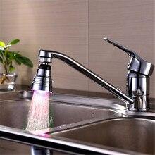 360 grados de rotación Mini Cocina Accesorios de Baño Cocina Luz LED Glow Agua Agua Pura Torneiras Cozinha Grifo Aireador