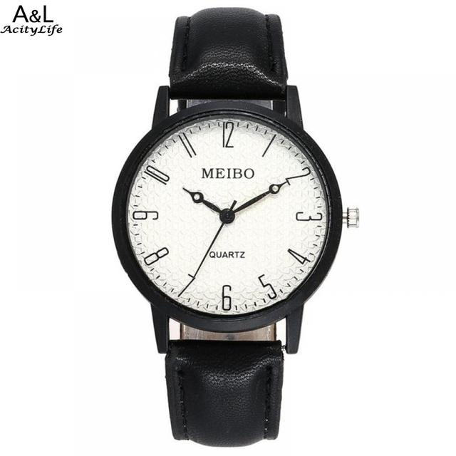 Watch For Relogio Beautiful Leather Business Watch Simple Mens Ladies Belt Hodin