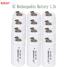 12Pcs SC battery 2400mAh rechargeable subc 1.2 v with tab for makita dewalt bosch