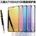 Caso Para Samsung Galaxy A7 2016 A7100 Espelho Chapeado PU Couro e Plástico 2 Em 1 Capa Protetora #0615