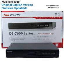 HIk 8CH POE NVR DS-7608NI-E2/8P 8CH POE NVR for HD IP Camera 5 Megapixels Recording 8 POE 2 SATA Security Netword Video Recorder