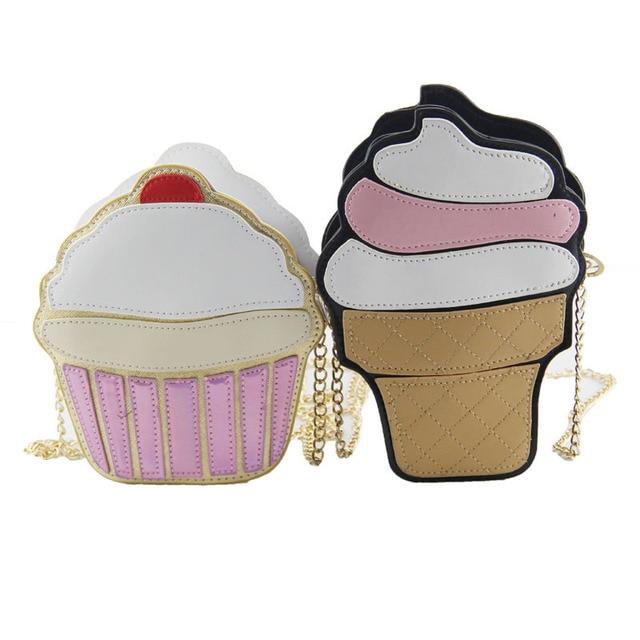 Funny Ice Cream Cake Bag Small Crossbody Bags For Women Cute Purse Handbags Chain Messenger