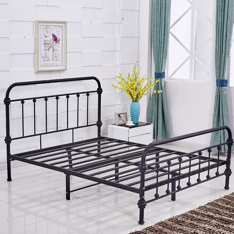 new arrival 0187b 07dce US $2135.99 11% OFF|Beds Home Furniture iron bed single/double bed  wholesale multi size 1.5*1.9cm/1.2*1.9cm/1.8*2cm hot new can customize  2017-in Beds ...