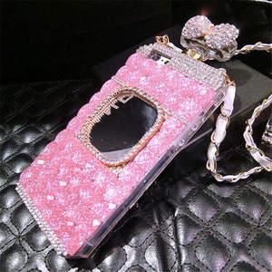 Image 2 - XSMYiss Samsung S20 S8 S9 S10 artı S10E not 10 artı 8 9 elmas taklidi ayna parfüm şişesi yumuşak telefon kılıfı arka kapak