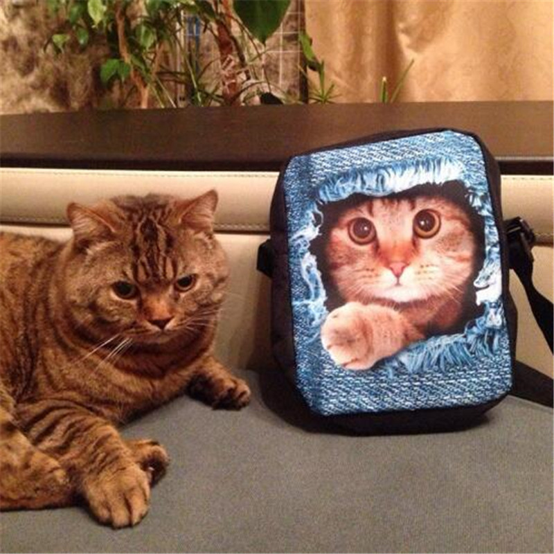 FORUDESIGNS Черна котка пратеник чанти за - Дамски чанти - Снимка 5