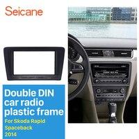 Seicane 2Din Auto Radio Fascia Scheibe für 2014 Skoda Schnelle Spaceback DVD Rahmen Fitting Adapter Dash Mount CD Trim Schwarz-in Faszien aus Kraftfahrzeuge und Motorräder bei
