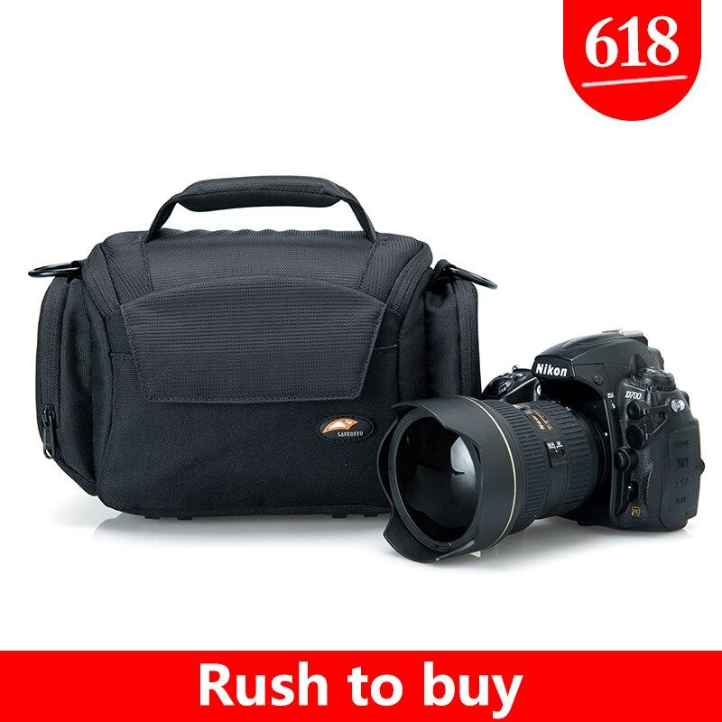Safrotto bonne qualité diviseur intérieur souple DSLR sac à main antichoc protecteur caméra sac à bandoulière pour Canon 5D3 6D 7D 60D 750D D700