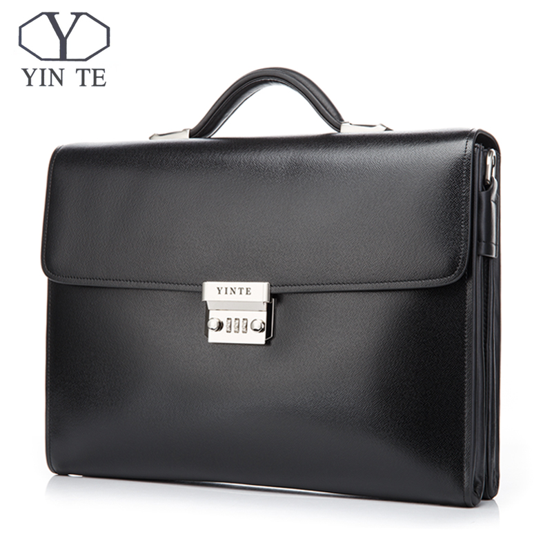 YINTE Leather Mens Briefcases Classic Leather Business Mens Working Bag Fashion Messenger Handbag Totes Portfolio Men T8383-6YINTE Leather Mens Briefcases Classic Leather Business Mens Working Bag Fashion Messenger Handbag Totes Portfolio Men T8383-6