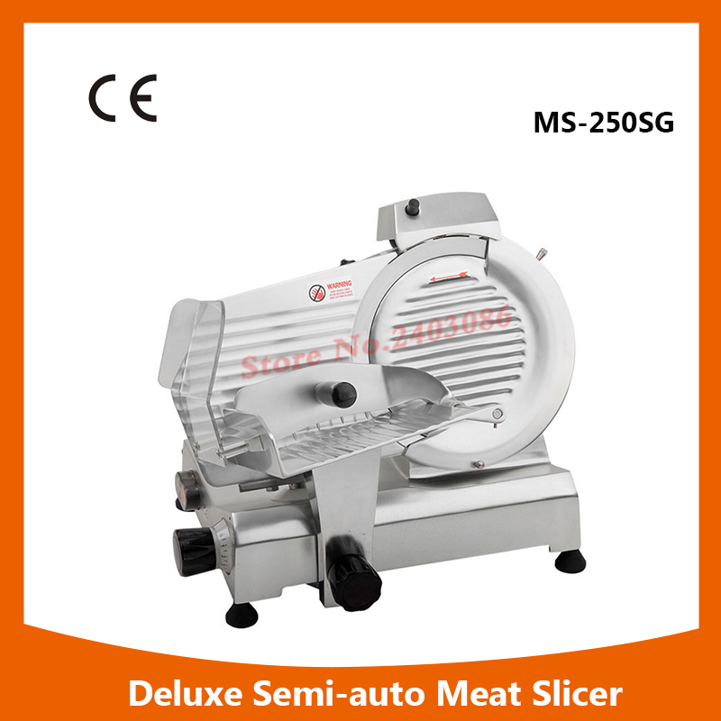 MS-250SG  10 Deluxe Anodized aluminium alloy electric frozen meat slicer food cutting machine for sales