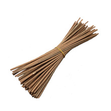 50Pcs Premium Brown Rattan Reed Fragrance Diffuser Replacement Refill Sticks 250mm *3.5mm for Loffon
