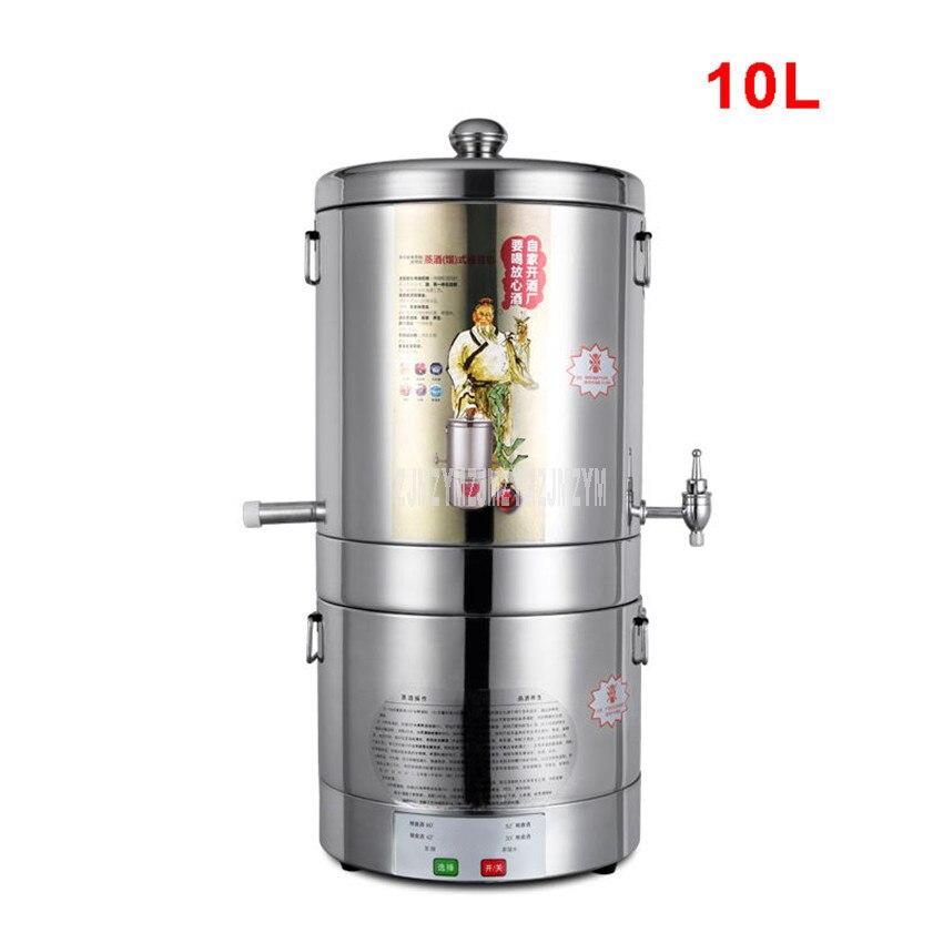 10L automatique Intelligent contrôle vin brassage Machine ménage alcool distillateur vin liqueur fermenté Distillation Machine