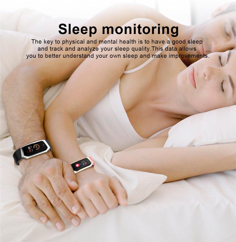 HTB1w8UTKeuSBuNjSsplq6ze8pXaz Greentiger E18 Smart Bracelet Blood Pressure Heart Rate Monitor Fitness Tracker smart watch IP67 Waterproof camera Sports Band