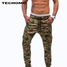 New Cotton Streetwear Camouflage Mens Pants 2017 Fashion Casual Autumn Pencil Pants Street style Hip Hop Mens Jogger Trousers