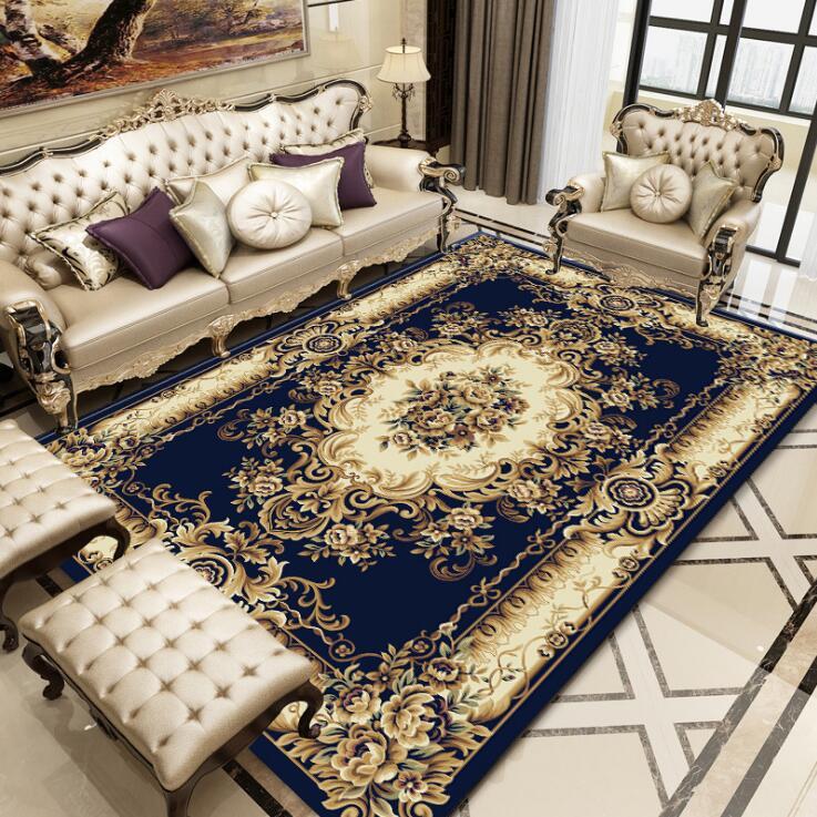 120*180 cm grand tapis pour salon enfants ramper tapis européen Jacquard corail polaire tapis maison tapis porte tapis couverture
